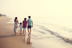 A family walking together, a healthy and familiar practice to get into the habit of.