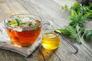 Healthy herbal tea.