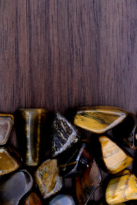 Tiger's Eye in a pile