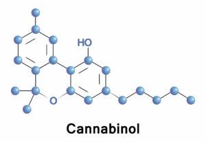 Cannabinol molecule