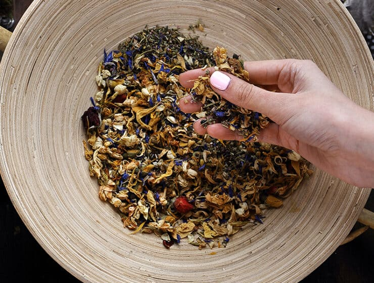 Herbs For Protection in a bowl | Alchemy | The Alchemists Kitchen