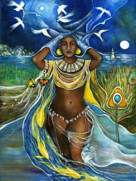 Oshun Goddess Painting