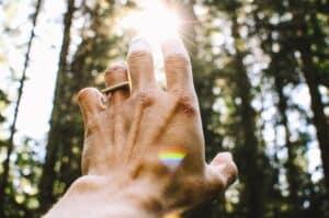 A healer reaching for the sun.