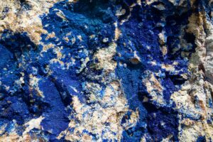Lapis Lazuli in a wall of stone
