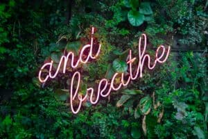 Breathe in and out with nature all around you to connect.